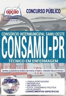 Apostila Concurso CONSAMU PR 2019 Técnico em Enfermagem PDF Download e Impressa
