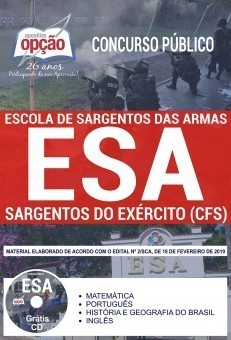 Apostila Concurso ESA 2019 Curso de Sargentos do Exército PDF Download e Impressa