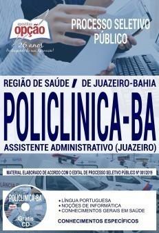 Apostila Concurso Policlínica BA 2019 Assistente Administrativo PDF Download e Impressa