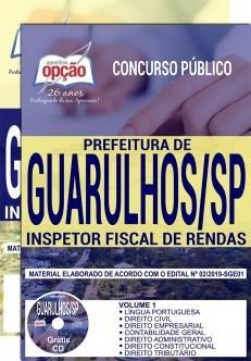 Apostila Concurso Prefeitura de Guarulhos 2019 Inspetor Fiscal de Rendas PDF Download e Impressa