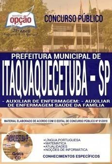 Apostila Concurso Prefeitura de Itaquaquecetuba 2019 Auxiliar de Enfermagem PDF Download e Impressa