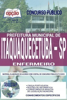 Apostila Concurso Prefeitura de Itaquaquecetuba 2019 Enfermeiro PDF Download e Impressa