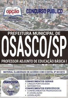 Apostila Concurso Prefeitura de Osasco 2019 Professor Adjunto de Educação Básica PDF Download e Impressa
