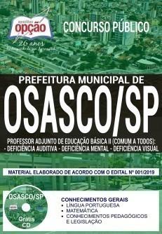 Apostila Concurso Prefeitura de Osasco 2019 Professor de Deficiência Auditiva, Mental e Visual PDF Download