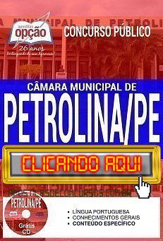 Apostila Concurso Câmara de Petrolina 2019 PDF Download e Impressa