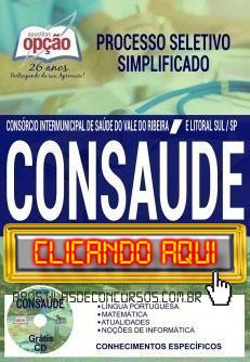 Apostila Concurso CONSAÚDE 2019 PDF Download e Impressa