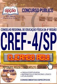 Apostila Concurso CREF 4ª Região 2019 PDF Download e Impressa