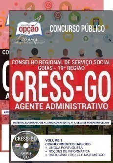 Apostila Concurso CRESS GO 2019 PDF Agente Administrativo