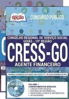 Apostila Concurso CRESS GO 2019 PDF Agente Financeiro