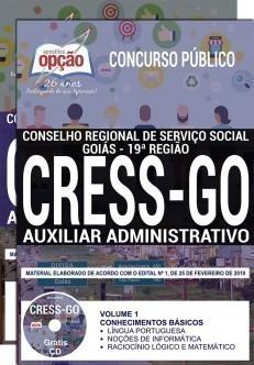 Apostila Concurso CRESS GO 2019 PDF Auxiliar Administrativo