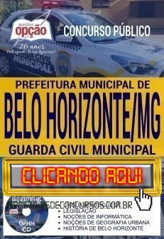 Apostila Concurso Prefeitura de Belo Horizonte 2019 PDF Download e Impressa
