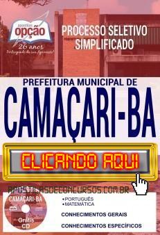 Apostila Concurso Prefeitura de Camaçari 2019 PDF Download e Impressa