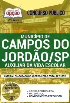 Apostila Concurso Prefeitura de Campos do Jordão 2019 PDF Auxiliar da Vida Escolar