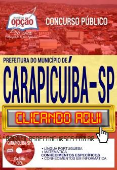 Apostila Concurso Prefeitura de Carapicuíba 2019 PDF Download e Impressa