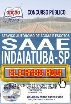 Apostila Concurso Prefeitura de Indaiatuba 2019 PDF Download e Impressa