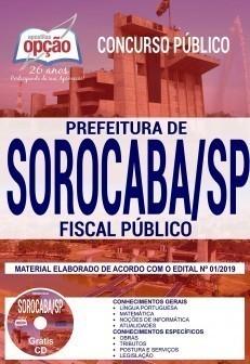 Apostila Concurso Prefeitura de Sorocaba 2019 PDF Fiscal Público