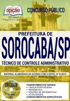 Apostila Concurso Prefeitura de Sorocaba 2019 PDF Técnico de Controle Administrativo