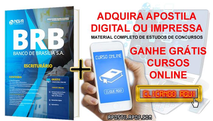 Apostila BRB 2019 Escriturário PDF e Impressa