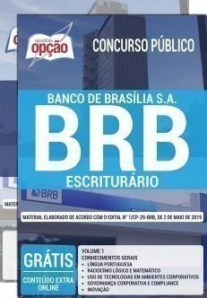 Apostila Concurso BRB 2019 PDF e Impressa Escriturário