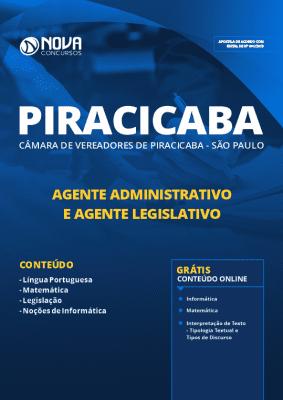 Apostila Câmara de Piracicaba 2019 Agente Administrativo e Legislativo PDF e Impressa