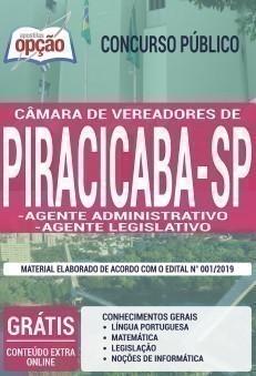 Apostila Câmara de Piracicaba 2019 PDF e Impressa Agente Administrativo e Agente Legislativo