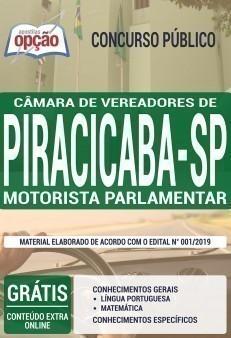 Apostila Concurso Câmara de Piracicaba 2019 PDF e Impressa Motorista Parlamentar
