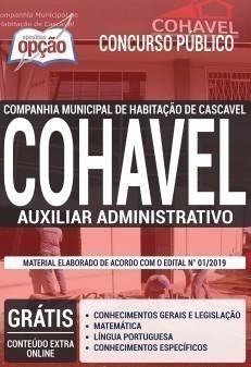 Apostila COHAVEL 2019 PDF e Impressa Auxiliar Administrativo