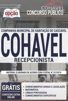 Apostila Concurso COHAVEL 2019 PDF e Impressa Recepcionista