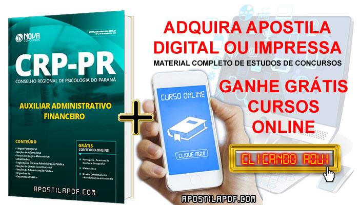 Apostila CRP PR 2019 Auxiliar Administrativo Financeiro PDF e Impressa Cursos Online Grátis