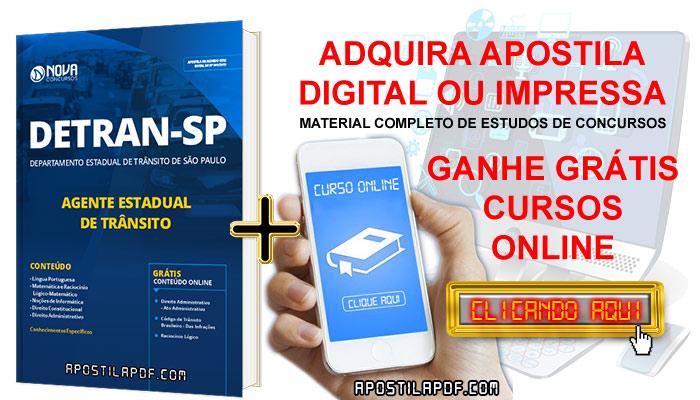 Apostila DETRAN SP 2019 PDF Impressa Grátis Cursos Online Cargo Agente Estadual de Trânsito