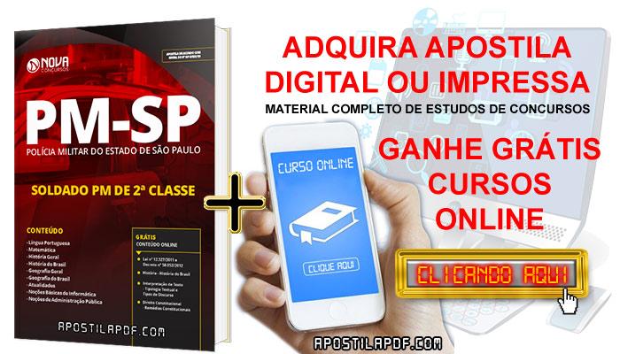 Apostila Concurso PM SP 2019 Soldado PM de 2ª Classe + Cursos Online Grátis