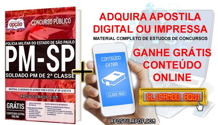 Apostila Concurso PM SP 2019 PDF e Impressa Soldado PM de 2ª Classe
