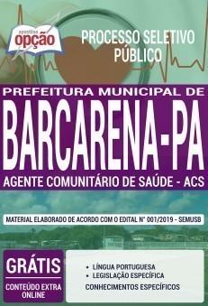 Apostila Prefeitura de Barcarena 2019 PDF e Impressa Agente Comunitário de Saúde