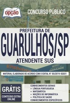 Apostila Prefeitura de Guarulhos 2019 PDF e Impressa Atendente SUS
