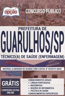 Apostila Prefeitura de Guarulhos 2019 PDF e Impressa Técnico de Saúde em Enfermagem