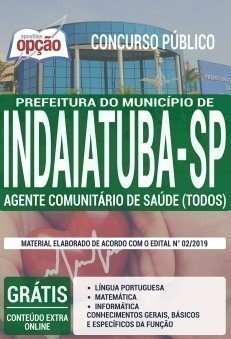 Apostila Concurso Prefeitura de Indaiatuba 2019 PDF e Impressa