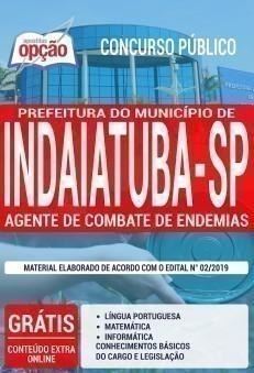 Apostila Prefeitura de Indaiatuba 2019 PDF e Impressa Agente de Combate de Endemias