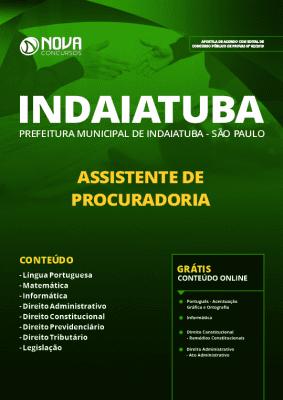 Apostila Prefeitura de Indaiatuba 2019 Grátis Cursos Online Assistente de Procuradoria