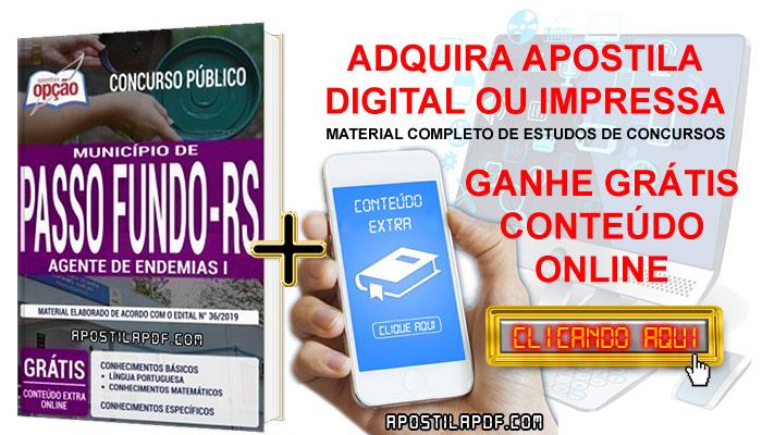Apostila Prefeitura de Passo Fundo 2019 PDF e Impressa Agente de Endemias Conteúdo Online Gratis