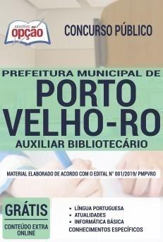 Apostila Prefeitura de Porto Velho 2019 PDF e Impressa Auxiliar Bibliotecário