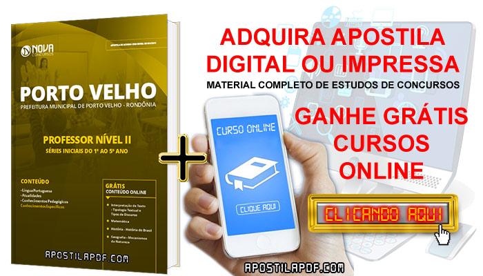 Apostila Concurso Prefeitura de Porto Velho 2019 Professor Nível II PDF Impressa Cursos Online Grátis