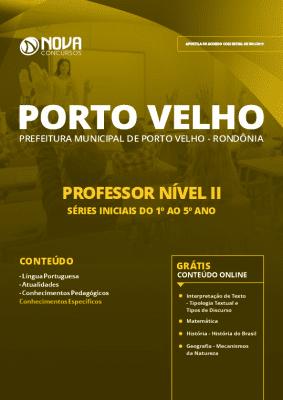 Apostila Prefeitura de Porto Velho 2019 Grátis Cursos Online Professor Nível II