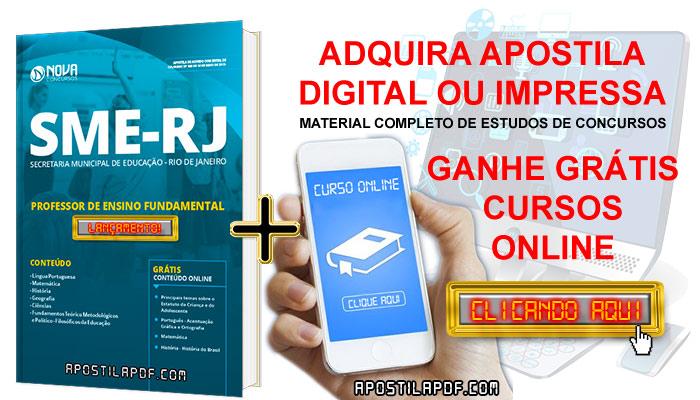 Apostila SME RJ 2019 Professor de Ensino Fundamental PDF e Impressa Cursos Online Grátis