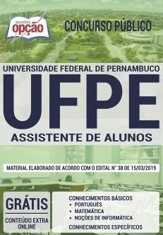 Apostila UFPE 2019 Assistente de Alunos PDF e Impressa