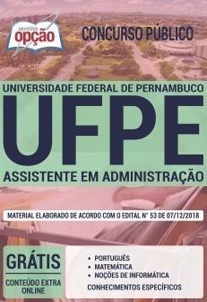 Apostila UFPE 2019 Assistente em Administração PDF e Impressa
