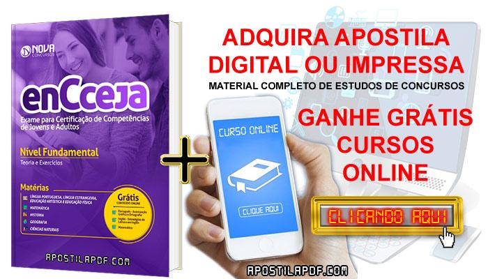 Apostila ENCCEJA 2019 Ensino Fundamental PDF e Impressa Cursos Online Grátis