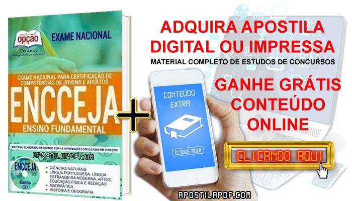 Apostila ENCCEJA 2019 PDF e Impressa Ensino Fundamental Conteúdo Online Gratis