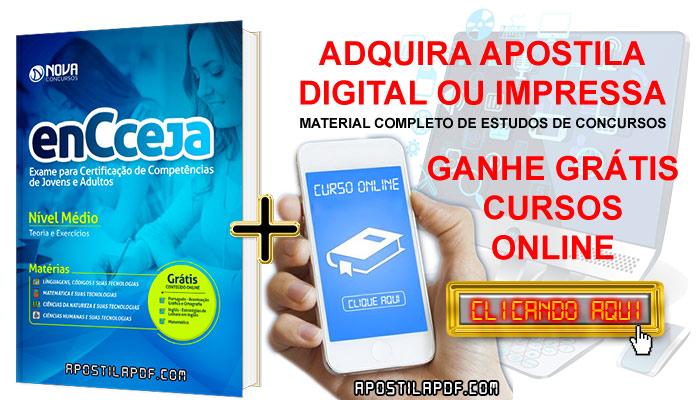 Apostila ENCCEJA 2019 Ensino Médio PDF e Impressa Cursos Online Grátis