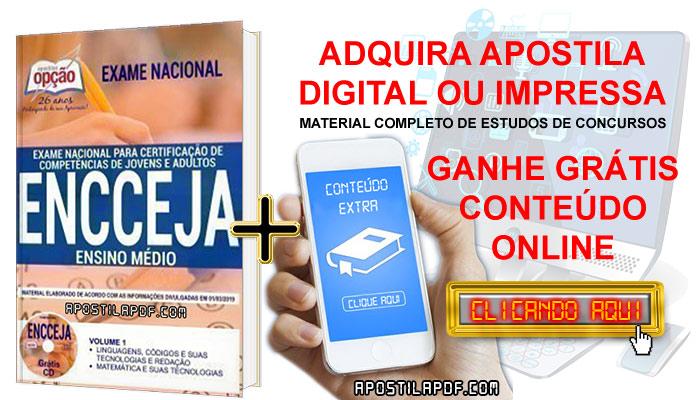 Apostila ENCCEJA 2019 PDF e Impressa Ensino Médio Conteúdo Online Gratis