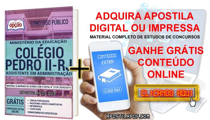 Apostila Concurso Colégio Pedro II 2019 PDF e Impressa Assistente em Administração Conteúdo Online Grátis